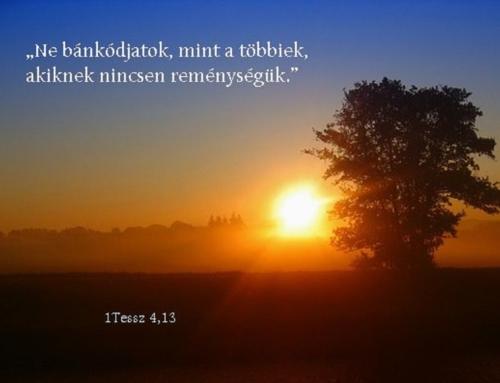 A remény a hit energiája!
